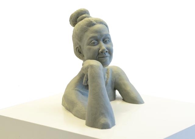Philippino Woman Portrait Clay Sculpture