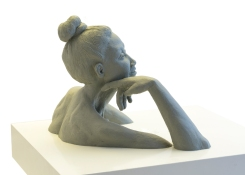 Philippino Woman Portrait Clay Sculpture