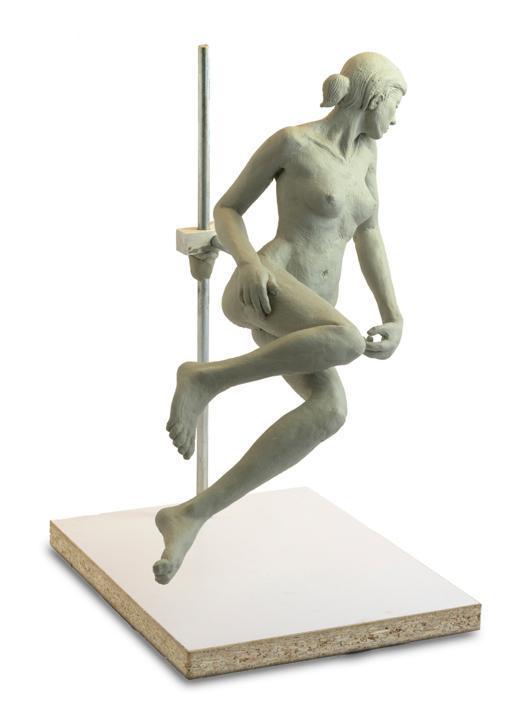 Female Figure Study Clay Sculpture