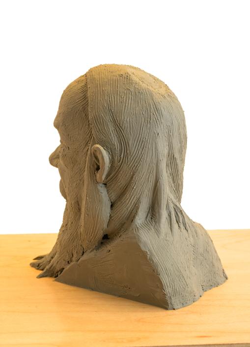 Quick Head Study clay sculpture