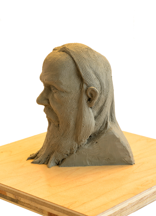 Quick Head Study clay sculpture