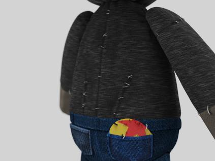Doll model back detail